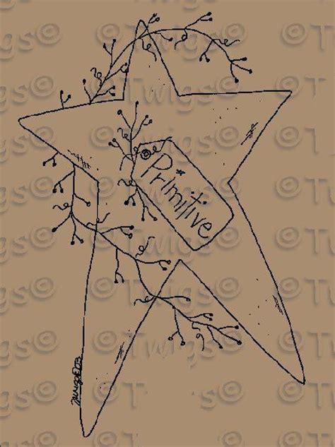 pattern for primitive heart primitive star stitchery e pattern prim crafts pinterest