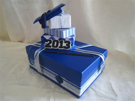 how to make a graduation card box royal blue silver white graduation card box