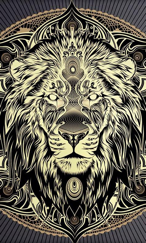 tattoo mandala gold solid gold lion mandala beautiful metallic print