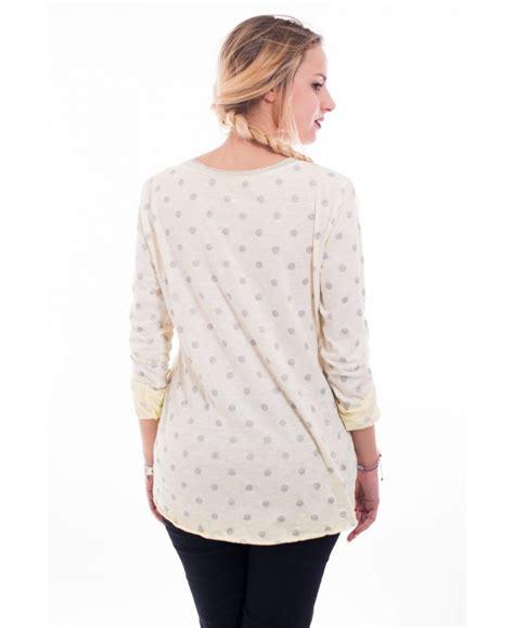 T Shirt L A P D t shirt p l l d 6096 jaune grossiste pret a porter