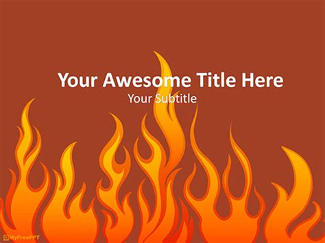 powerpoint themes free download fire fire template powerpoint free fire hydrant powerpoint