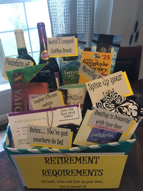 Handmade Retirement Gifts - retirement gift basket diy retirement
