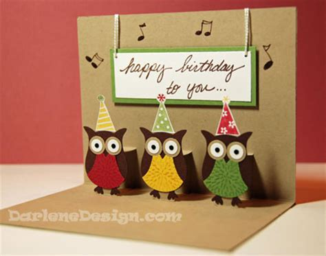 Owl Pop Up Card Template by Wednesday S Card Pop Ups Stin Up Owl Punch U B