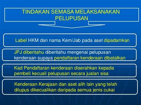 Hkm Kontrak Pelupusanhapuskira