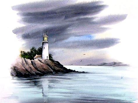 watercolor tutorial seascape watercolour tutorial paint an atmospheric lighthouse seascape