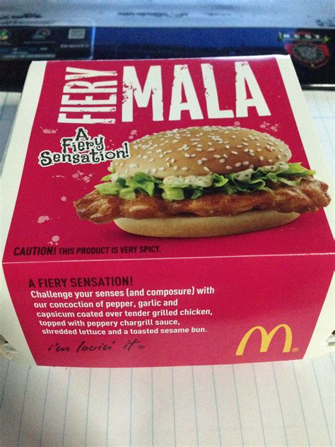 Mcd Spicy Peri Peri fiery mala burger level 4 mcdonald s spicy challenge