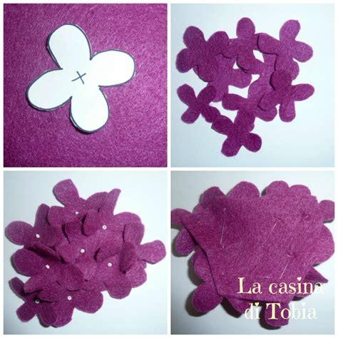 fiori di feltro cartamodelli la casina di tobia fiori in feltro fai da te la