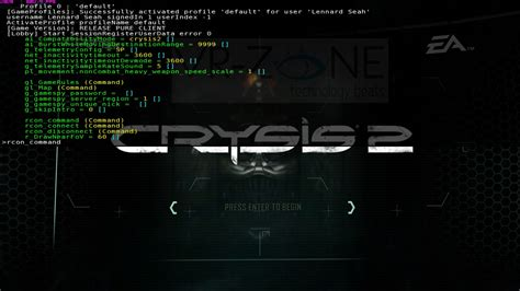 crysis 2 console crysis 2 pc dropdown console in