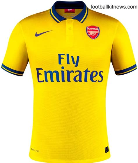 Arsenal Yellow Jersey | new arsenal away kit 13 14 yellow arsenal shirt 2013 2014