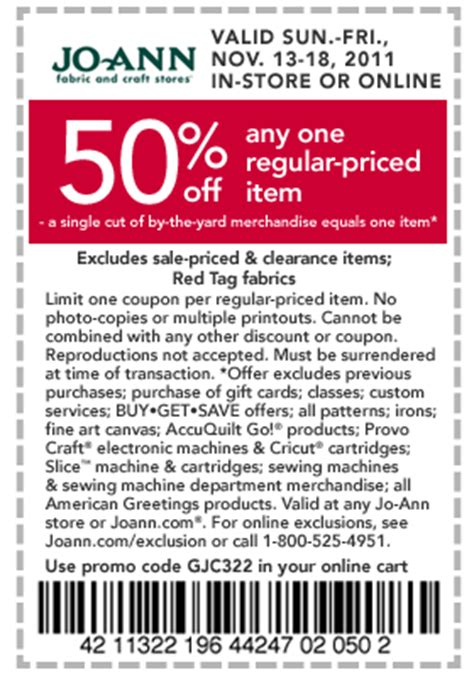 joann fabric printable in store coupons free printable coupons joann coupons