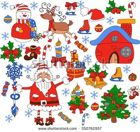 santa on doodle santa claus stock images royalty free images