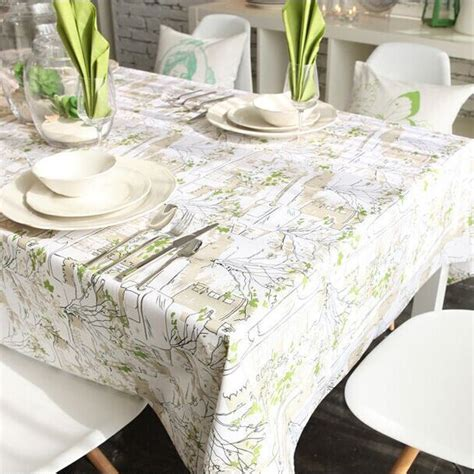 Home Accessories From Vintage Linens by Linen Table Cloth Tableclothe Mediterranean Printed Dining