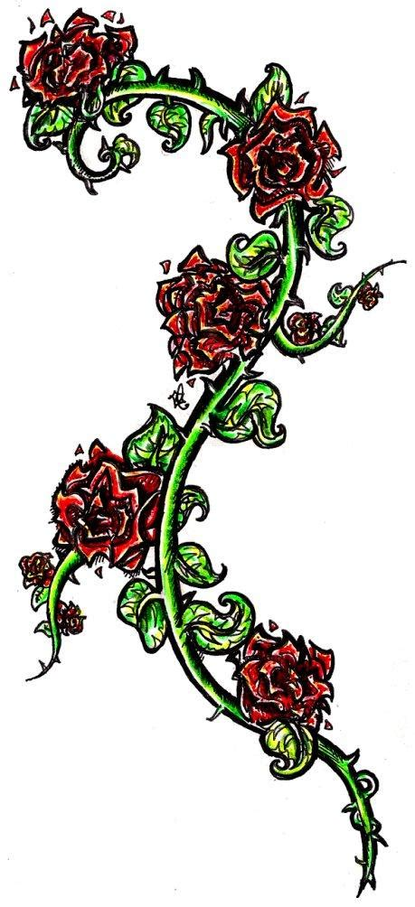 vine with roses tattoo designs tribal question 30 wonderful on back