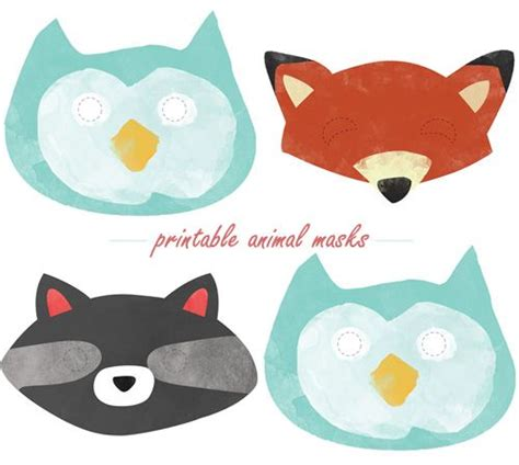printable woodland animal masks printable animal masks ellanore s first birthday