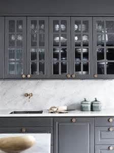 panelled grey marble kitchen