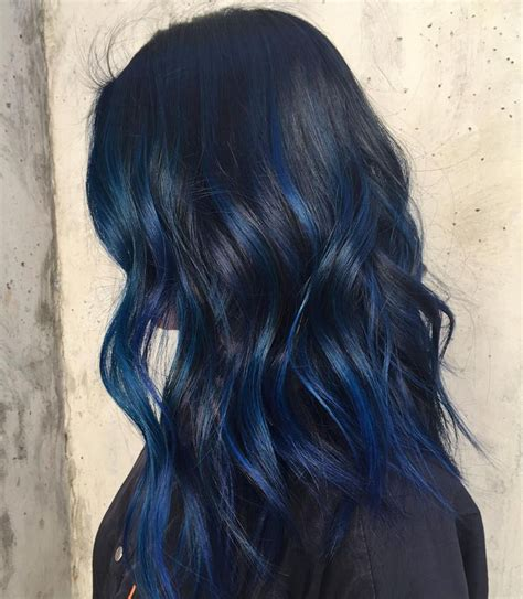 25 best ideas about blue hair highlights on pinterest colored highlights hair colored
