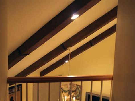 faux ceiling beams create rustic feel faux ceiling beams