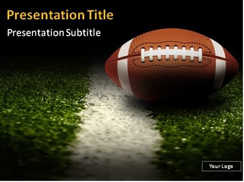 Football Powerpoint Templates Download American Football On The Field Powerpoint Template