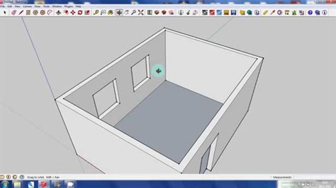google sketchup house tutorial sketchup tutorial basic house move copy push pull