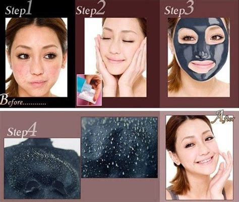 Shiseido Mask Black cleansing blackhead remover peel mask