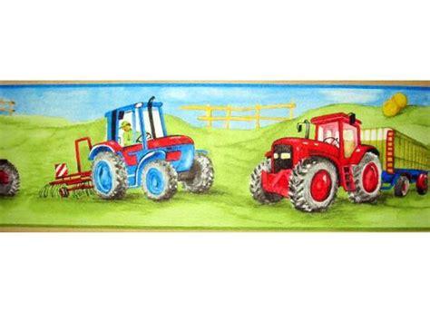 Kinderzimmer Junge Traktor by Rasch Bord 252 Re Tapeten Borte Bauernhof Traktor M 228 Hdrescher