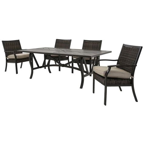 trenton  piece patio set el dorado furniture