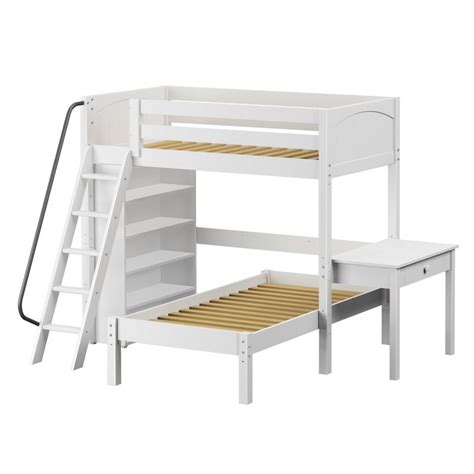 loft platform bed maxtrixkids knockout5 wp high loft bed with angled