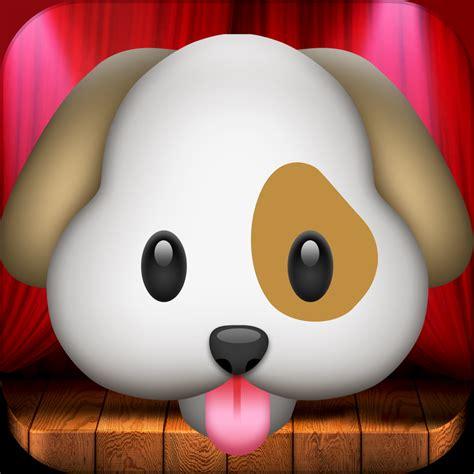 emoji dog wallpaper my talking dog emoji free iphone ipad app market