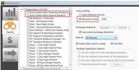 metastock pattern explorer golden ratio support and resistance indicator and explorer