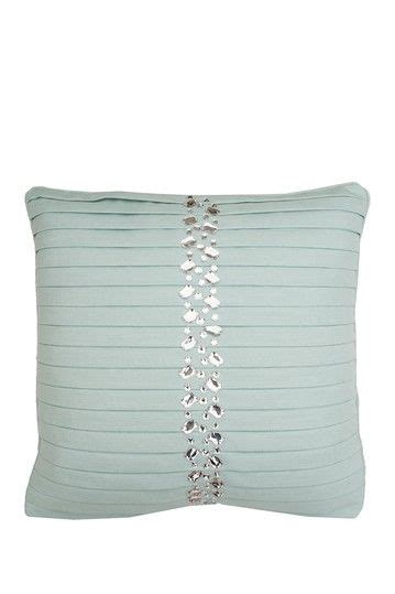 Harbor Linen Pillows Sale by Diana Harbor Pleated Faux Linen Pillow 18 Quot X 18 Quot By Thro