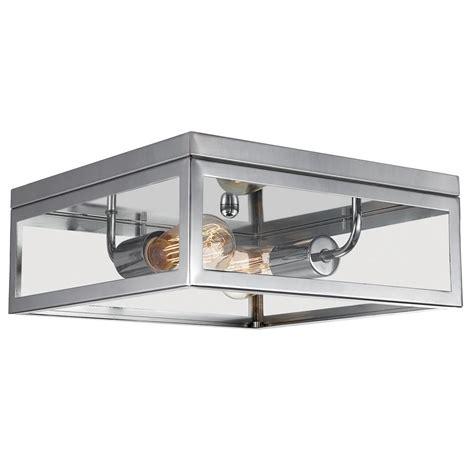 globe flush mount light globe electric 2 light chrome flush mount ceiling
