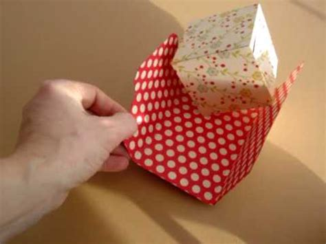 pop up cube card template pop up cube in a wallet wmv