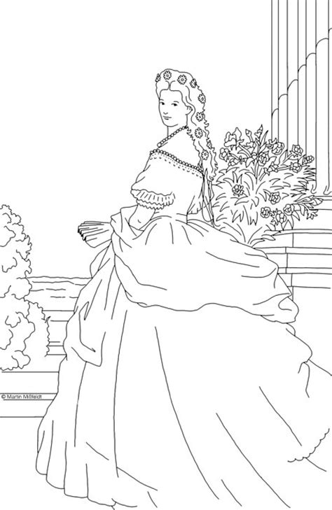 princess sissi coloring pages ausmalbild prinzessin sissi