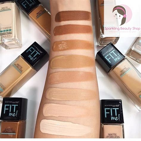 Bedak Maybelline Fit Me maybelline fit me matte poreless foundation elevenia