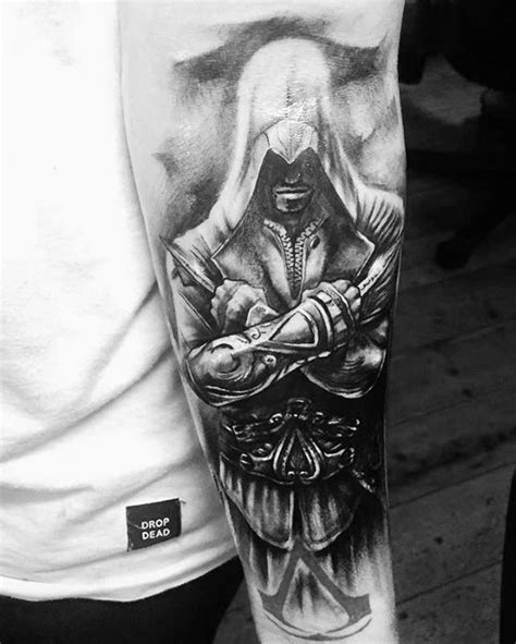 60 assassins creed tattoo designs for men video game ink