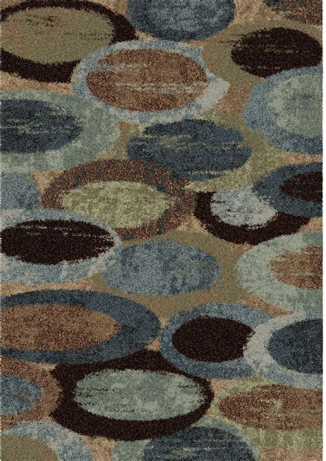 Large Blue Area Rugs Orian Rugs Plush Circles Pulpit Blue Area Large Rug 3611 8x11 Orian Rugs