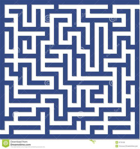 Maze In Blue labyrinthe bleu photo stock image 9776120