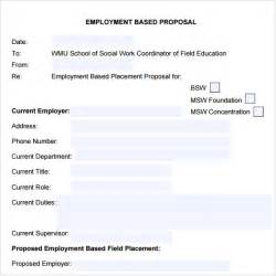Employment Templates by Sle Template 7 Free Documents