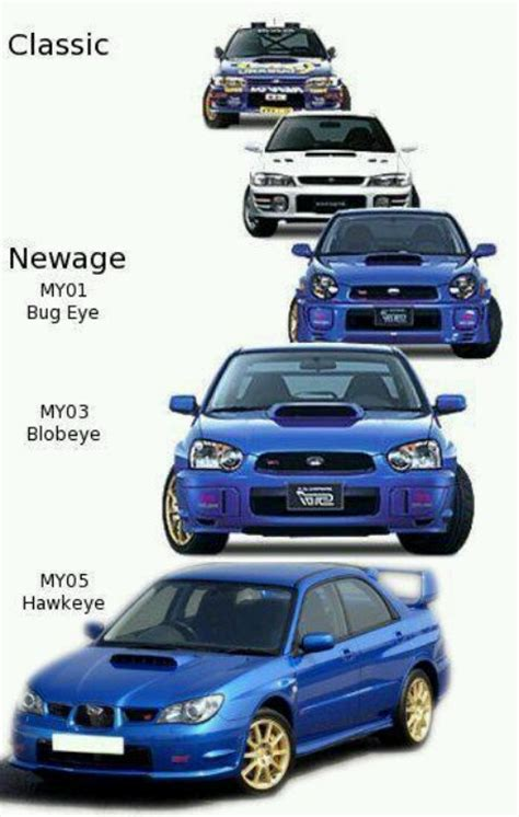 evo eye subaru subaru impreza wrx sti these model years only pertain to