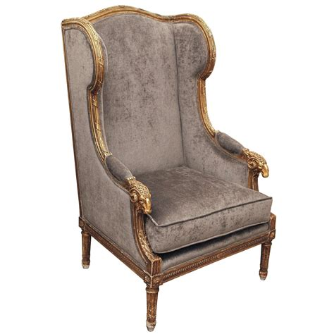 Wingback Armchair by Ornate Louis Xvi Style Quot Rams Quot Wing Back Armchair At