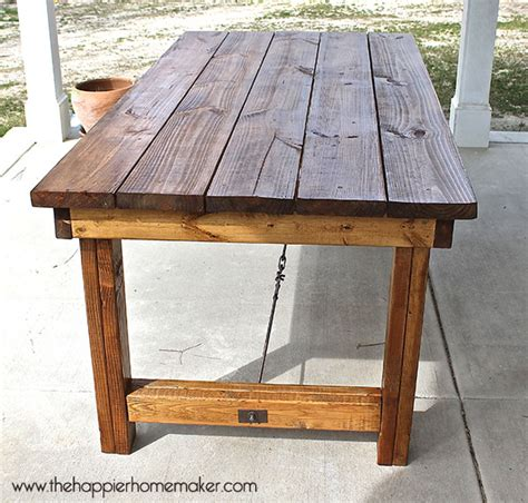 Diy Wood Patio Table Diy Pottery Barn Inspired Dining Table The Happier Homemaker