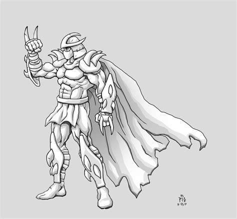 teenage mutant ninja turtles shredder coloring pages shredder by phillgonzo on deviantart