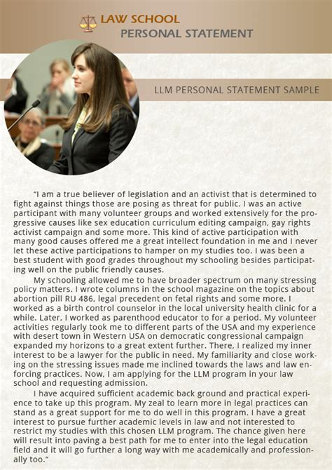 Mba Llm Harvard by Llm Best Personal Statement Sle