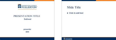 university powerpoint template csuf brand central