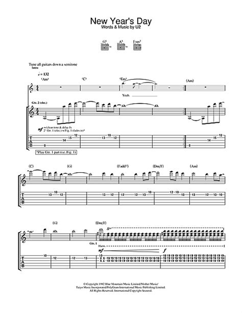 new year piano sheet partition piano u2 new year s day