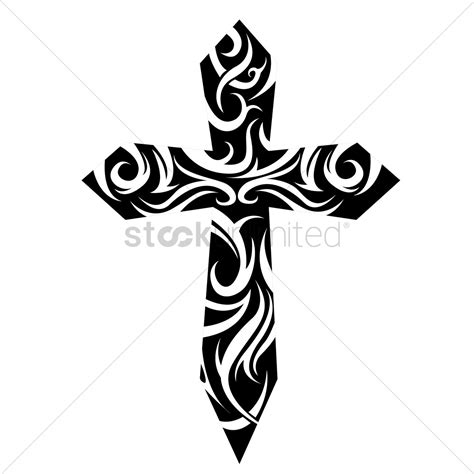 cross tattoo image tribal cross vector image 1524206 stockunlimited
