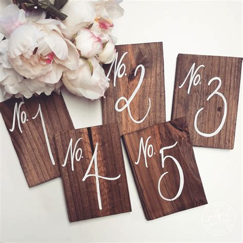 Wooden Table Numbers Wedding by Wedding Table Numbers Rustic Wooden Wedding By Thepaperwalrus