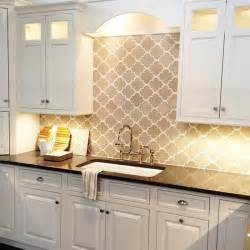 gray arabesque tiles contemporary kitchen