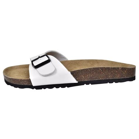 unisex sandals vidaxl co uk white unisex bio cork sandal with 1 buckle