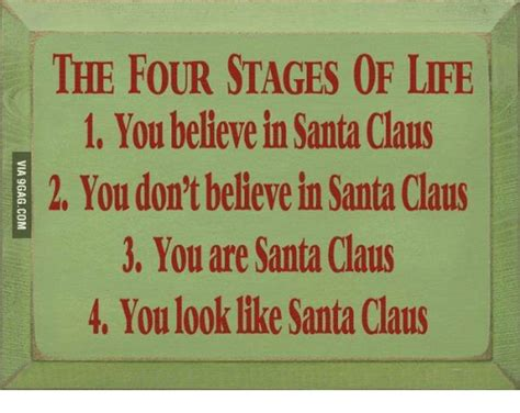 stages  life    santa claus